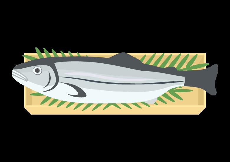 新巻鮭のイラスト
