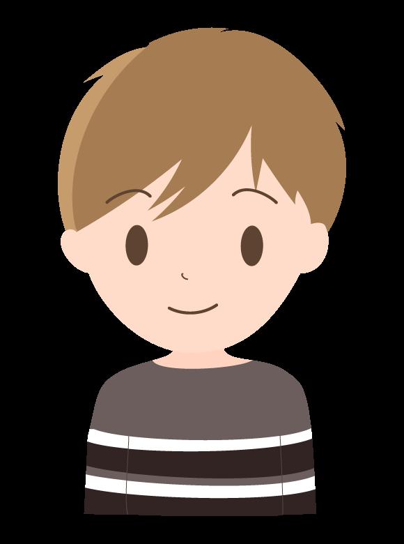 ボーダーの服を着た若い男性のイラスト