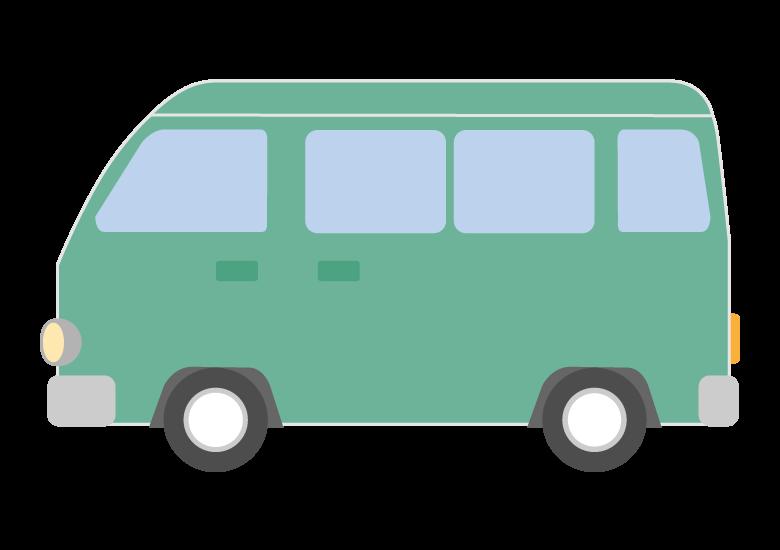 レトロなワゴン車のイラスト