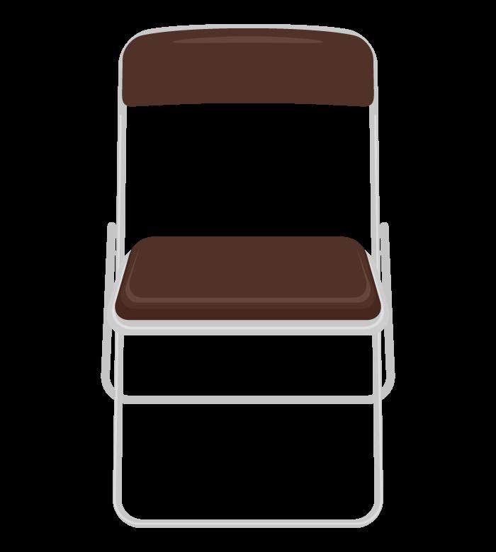 パイプ椅子(正面)のイラスト