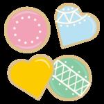 カラフルなクッキーのイラスト