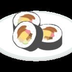 カットされた恵方巻き/太巻きのイラスト