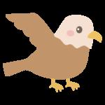 かわいい鷹のイラスト