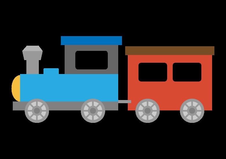 かわいい機関車のイラスト