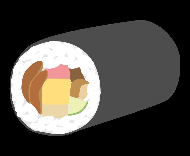 恵方巻き/太巻き(一本)のイラスト