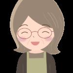 笑顔の年配主婦のイラスト