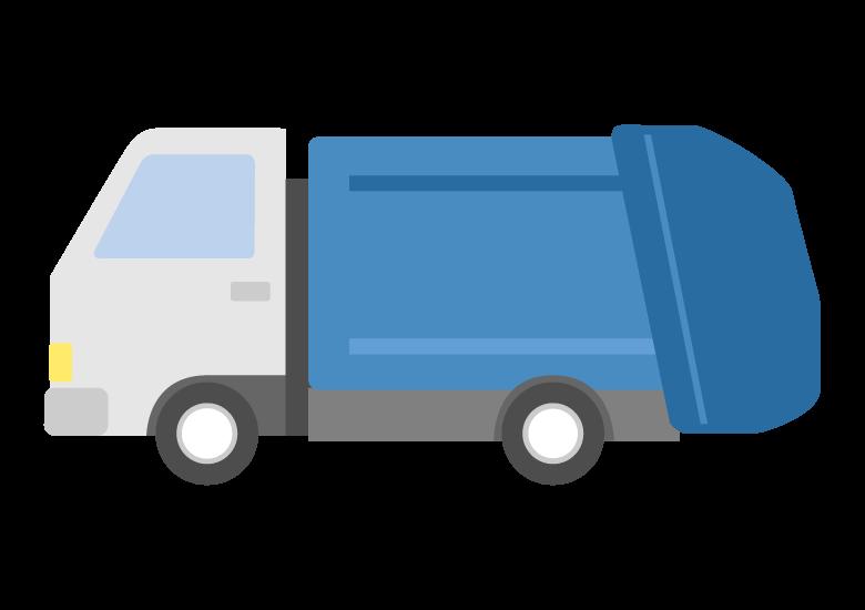ゴミ収集車のイラスト02