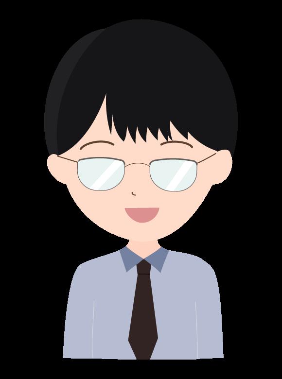 メガネをしている会社員のイラスト