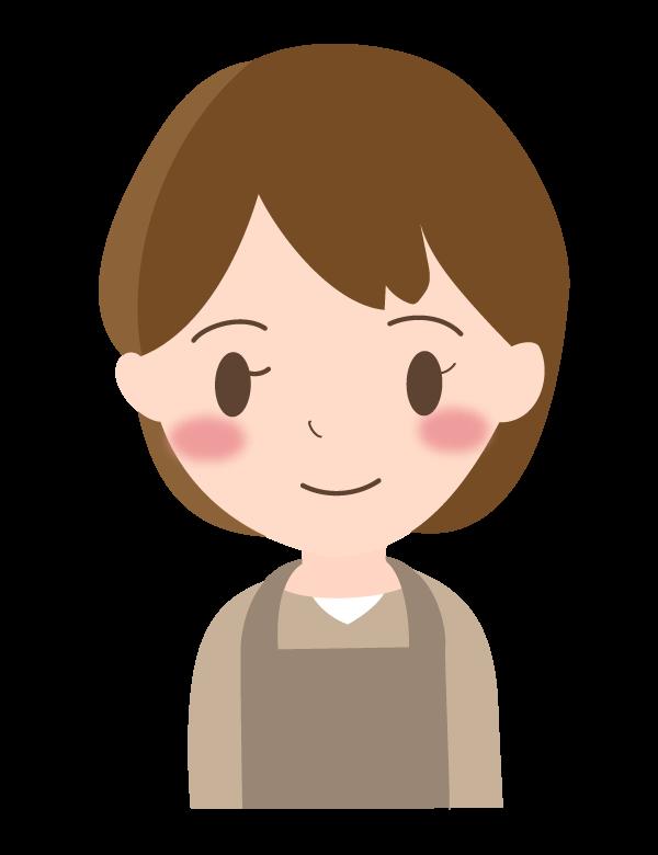笑顔の主婦のイラスト