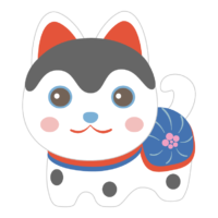 かわいい犬張子のイラスト
