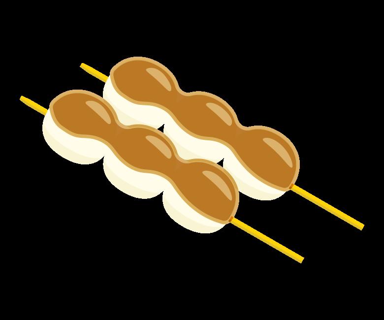 みたらし団子/和菓子のイラスト
