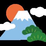富士山/日の出/松のイラスト