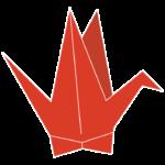 赤い折り鶴のイラスト