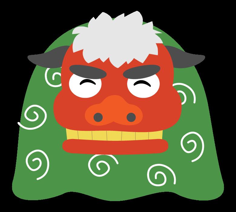 獅子舞/お正月のイラスト