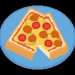ピザトーストのイラスト02