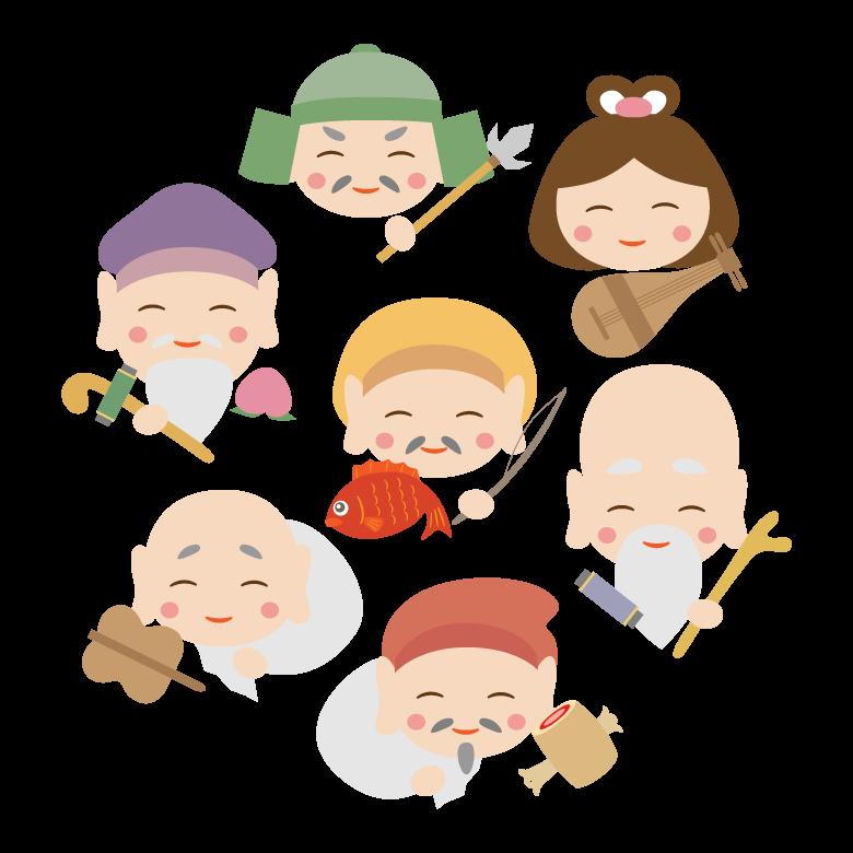 かわいい七福神のイラスト