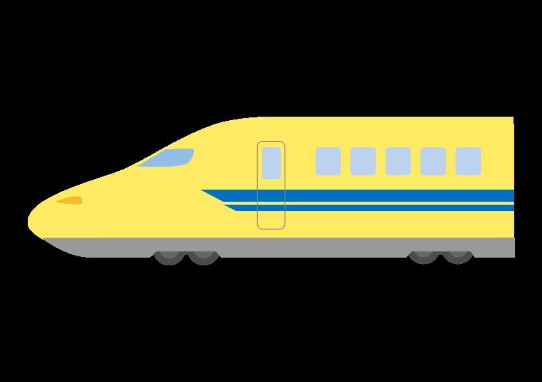黄色い新幹線(ドクターイエロー)のイラスト