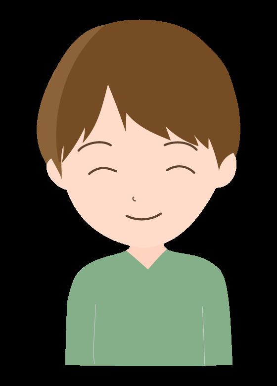笑顔の若い男性のイラスト02