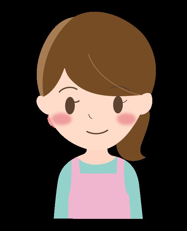 笑顔の若い主婦のイラスト