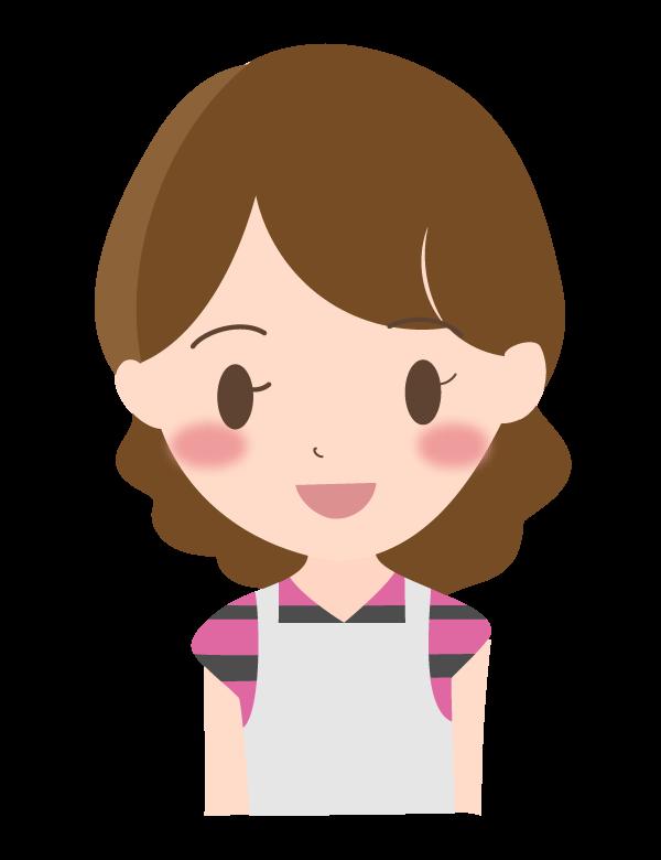 笑顔の若い主婦のイラスト02