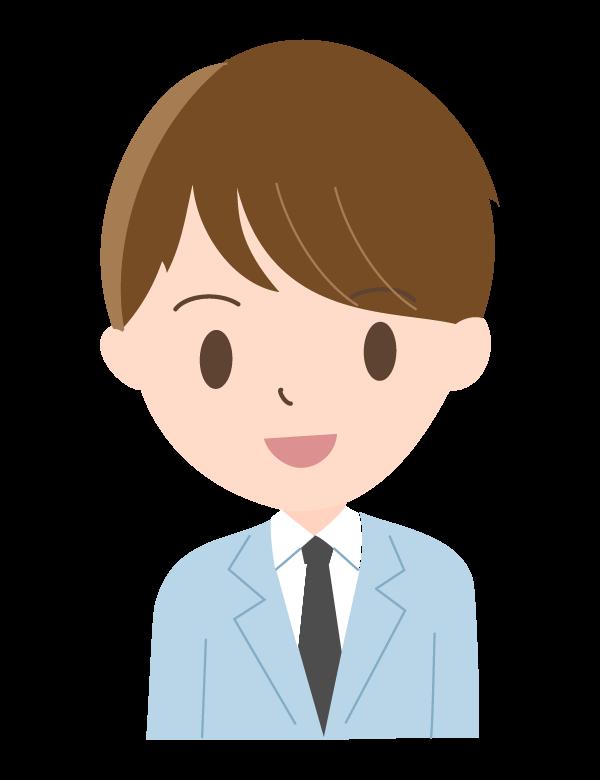 若い笑顔の会社員のイラスト