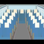 バスの車内/座席シートのイラスト