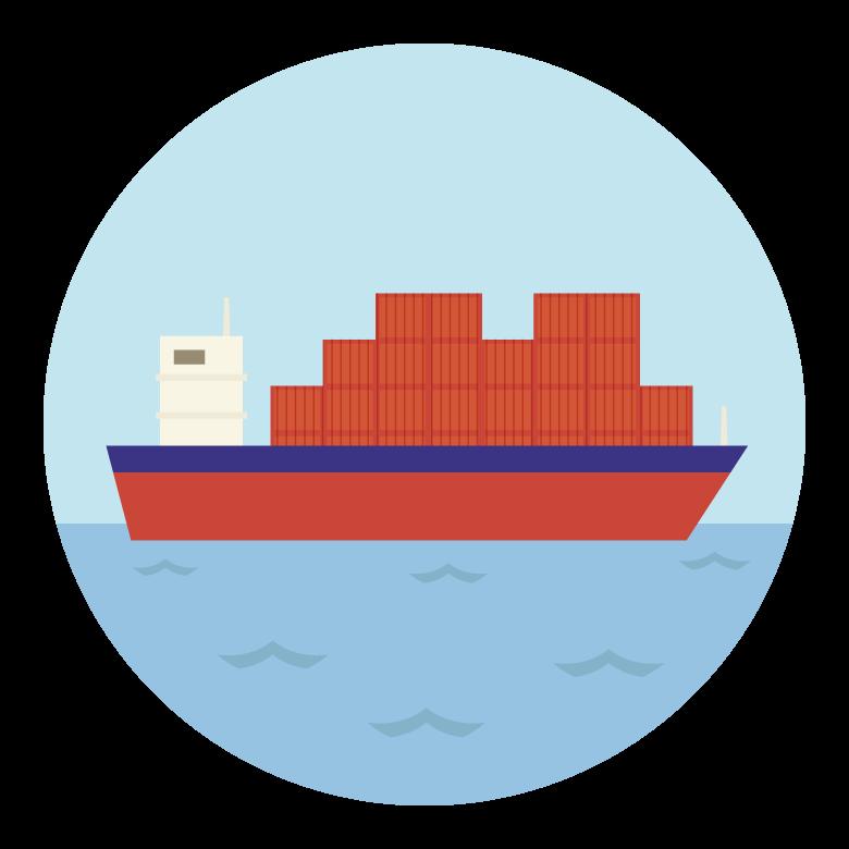 貨物船のイラスト