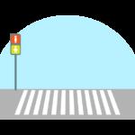 横断歩道と信号機のイラスト