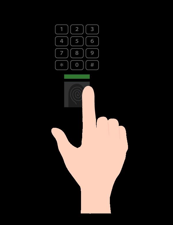 指紋認証のイラスト