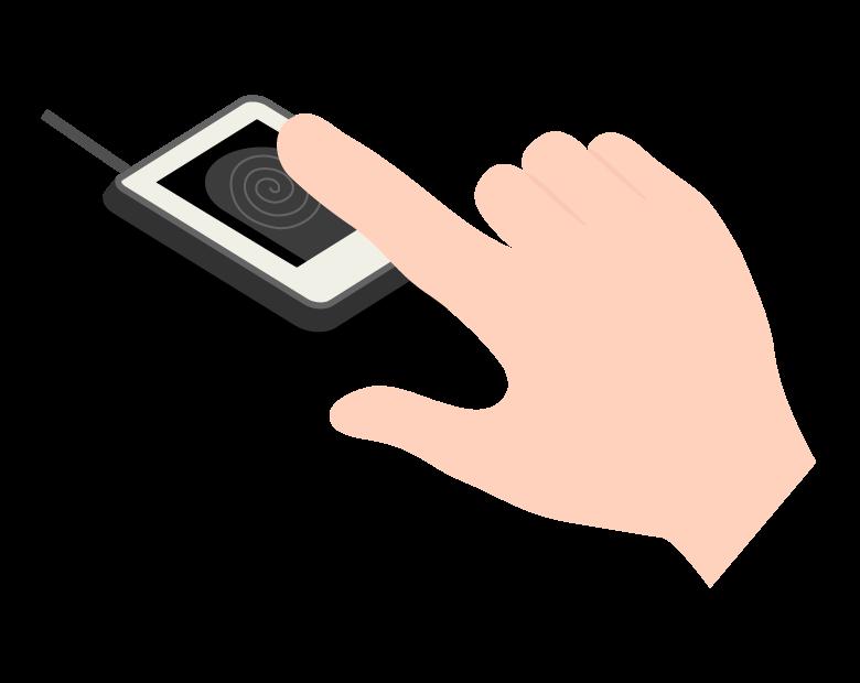 指紋認証のイラスト02