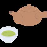 急須と緑茶/お茶/日本茶のイラスト
