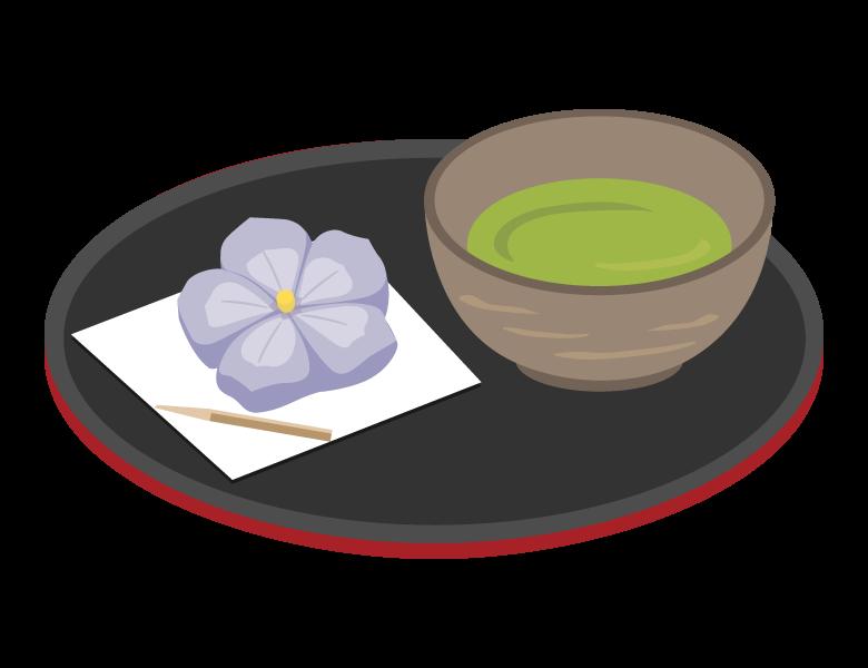 和菓子とお茶のイラスト02