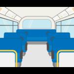 路線バスの車内/座席シートのイラスト