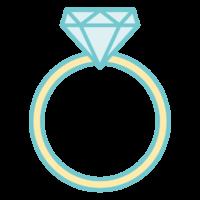 ダイヤモンドの指輪のイラスト02