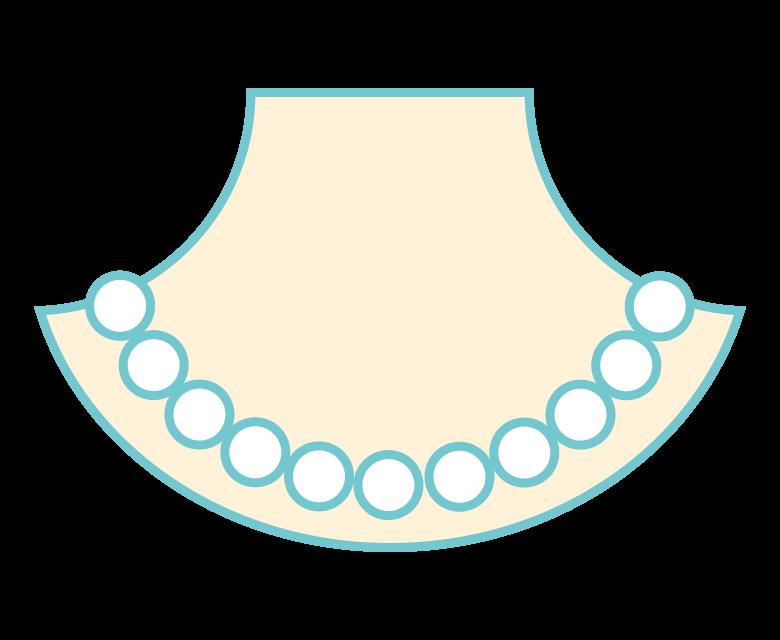 真珠(パール)のネックレスのイラスト