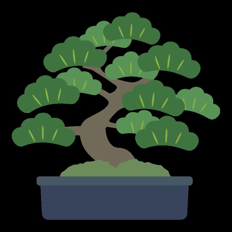 松の盆栽のイラスト02