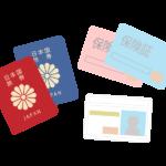 免許証/保険証/パスポートなどの身分証明書のイラスト