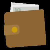 折りたたみ財布のイラスト