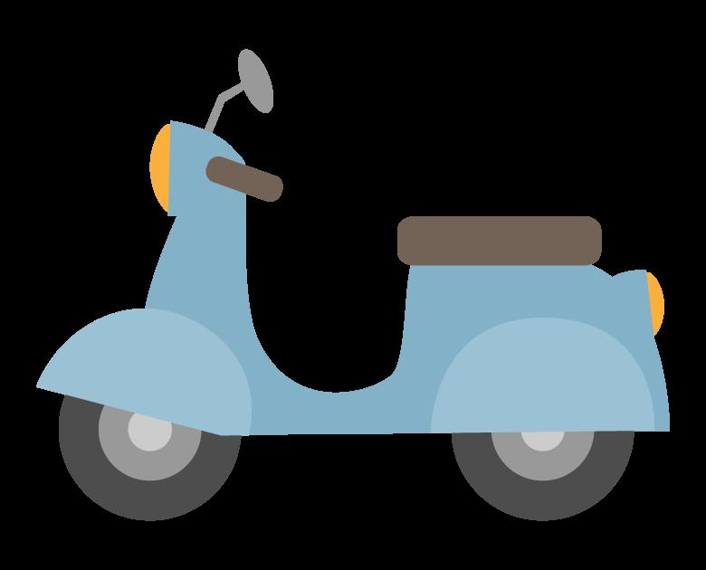 スクーター/原付バイクのイラスト
