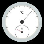温度計と湿度計のイラスト