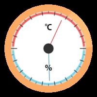 温度計と湿度計のイラスト02
