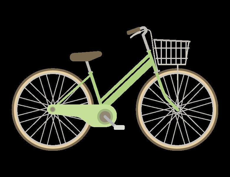 オーソドックスな自転車のイラスト