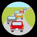 道路渋滞のイラスト