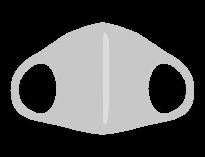 ウレタンのマスクのイラスト
