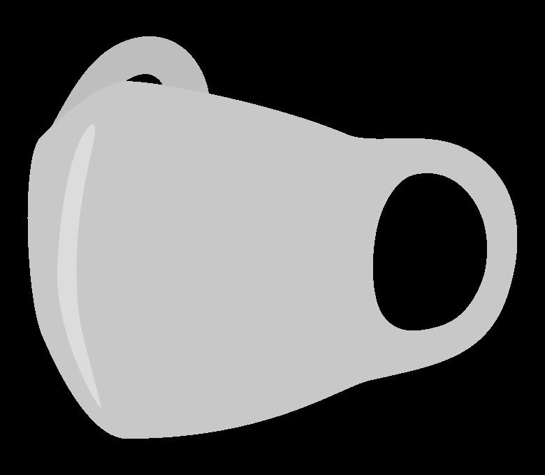 ウレタンのマスク(斜めアングル)のイラスト