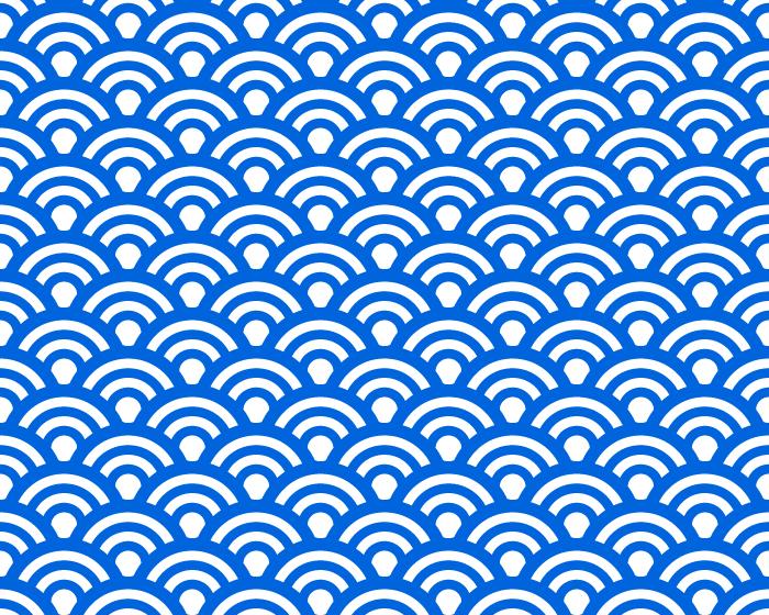 和風の波/青海波/ウェーブのテクスチャーのイラスト
