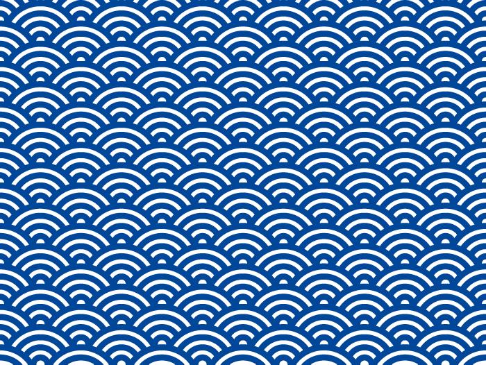 和風の波/青海波/ウェーブのテクスチャーのイラスト02
