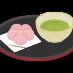 和菓子とお茶のイラスト