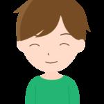 男の子/笑顔のイラスト