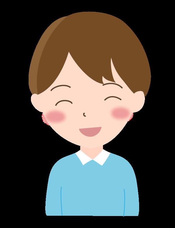 男の子/笑顔のイラスト02